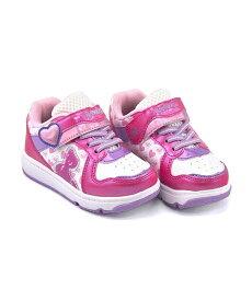 ディズニー ラプンツェル ランニングシューズ スニーカー 女の子 キッズ 子供靴 運動靴 通学靴 クッション性 カジュアル デイリー スポーツ スクール 学校 Disney 7568-01 ホワイト/ピンク