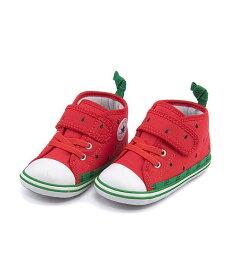 コンバース ベビーシューズ スニーカー 女の子 キッズ 子供靴 運動靴 通学靴 ベビーオールスターNフルーツV1 軽量 クッション性 屈曲性 カジュアル デイリー スポーツ スクール 学校 BABY ALL STAR N FRUITS V-1 converse 7CL429 スイカ