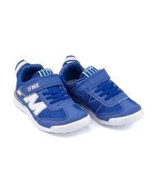イフミー ローカット スニーカー 女の子 キッズ 子供靴 運動靴 通学靴 ゴム紐 ストラップ 軽量 クッション性 カジュアル デイリー スポーツ スクール 学校 IFME 22-9009 ブルー