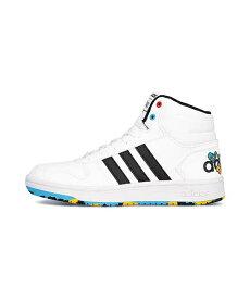 アディダス ハイカット スニーカー 女の子 キッズ 子供靴 運動靴 通学靴 アディフープスミッド2.0ポケモンK クッション性 カジュアル デイリー スポーツ スクール 学校 ADIHOOPS MID 2.0 POKEMON K adidas EG1989 フットウェアホワイト/コアブラック/スカーレット