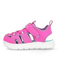 スケッチャーズ ベビーシューズ サンダル 女の子 キッズ 子供靴 運動靴 通学靴 Cフレックスサンダル2.0 軽量 クッション性 カジュアル デイリー スポーツ ウォーキング C-FLEX SANDAL 2.0-PLAYFUL TREK SKECHERS 302100N ホットピンク