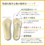 【あす楽】【ネコポス】Shoesfit.comヘブンリーインソール23/4サイズミッドナイトブラックレディース