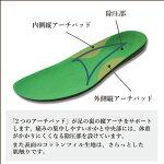 【送料無料】フットローブピエモンテfootrobe専用インソールコットンツィル/足底筋膜対策メンズ【本体別売】