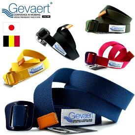 コットンベルト メンズ ゲバルト GEVAERT レディース アルミバックル プレゼント ベルギー製生地 日本製 GVT-1003