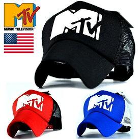 メッシュキャップ メンズ レディース 帽子 MTV MUSIC TELEVISION アメリカ発祥 USA ブランド トラッカーキャップ 77MTV-004