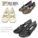 【送料無料】《FIZZ REEN フィズリーン》 337『FIZZ REEN 魅せるデザインとはきごこちの良さで信頼の日本製レディースシューズ・ブランド』ゆったり幅のEEE デイリーユースに便利なビットモカシン