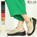 エーオーケー A-OK 靴 本革 日本製 サンダル 天然皮革 レザー 2way コンフォート レディース ウエッジヒール サボサン…