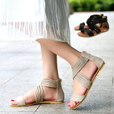 グラディエーターサンダル妊婦フラットサンダル多重レディース25cm歩きやすい靴ブーツサンダルフラットシューズアンクルストラップローヒールぺたんこペタンコ黒疲れないブラックベージュ普段使いお散歩