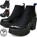 ヨースケ YOSUKE 厚底ブーツ サイドゴアブーツ ハイソール レディース ショートブーツ 2600813 セール