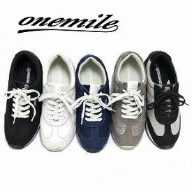 【ワンマイル】Onemileレディース防水カジュアルスニーカー OM-365 レースアップ 紐靴 ウェッジソール 美脚 厚底