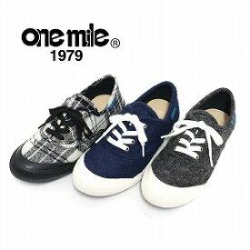 【ワンマイル】Onemileレディースローカットスニーカー OM-722 カジュアル 紐靴