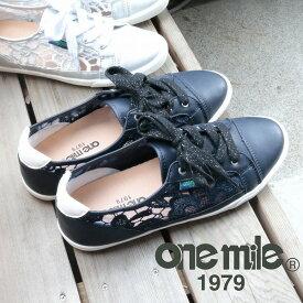 【ワンマイル】Onemileレディースレースアップスニーカー OM-730 カジュアル 紐靴