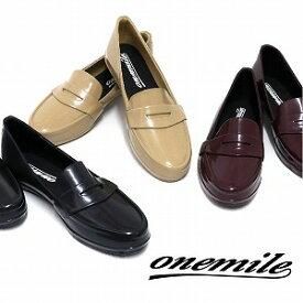 【ワンマイル】Onemileレディースレインシューズ OMP-209 ラバーシューズ 履きやすい・スリッポン