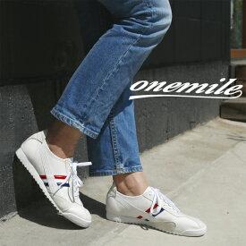 【ワンマイル】Onemileレディースレースアップスニーカー OM-402 カジュアル 紐靴