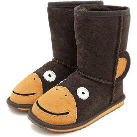【13〜20cm】emu エミュー キッズ ムートンブーツ LITTLE CREATURE リトル クリーチャーズ 靴 (スウェード/メリノウール) LC Monkey【e】【ts】