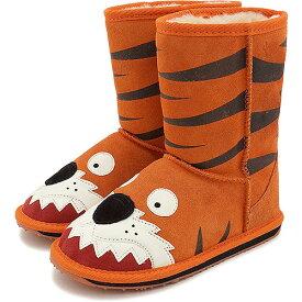 【13〜20cm】emu エミュー キッズ ムートンブーツ LITTLE CREATURE リトル クリーチャーズ 靴 (スウェード/メリノウール) LC Tiger【e】【ts】