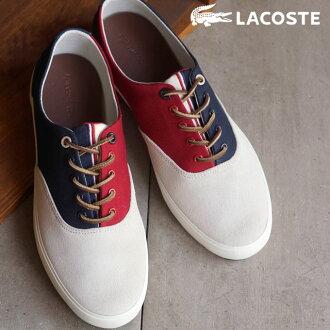 法国鳄鱼 Lacoste 男装运动鞋红色 (MSG036-8R1 FW15Q3) NVY/4 西隧钱尼