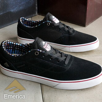 EMERICA-emerica skate shoes HERMAN G6 VULC x SKATELINE Herman G6 Barca x Skate line BLACK (HO15)