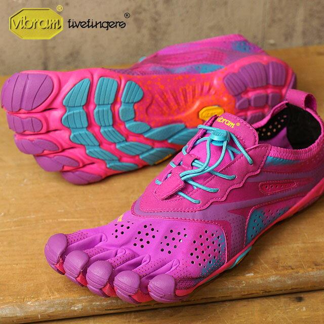 Vibram FiveFingers ビブラムファイブフィンガーズ レディース V-Run Purple/Blue ビブラム ファイブフィンガーズ 5本指シューズ ベアフット ウィメンズ 靴 (16W3107)【コンビニ受取対応商品】