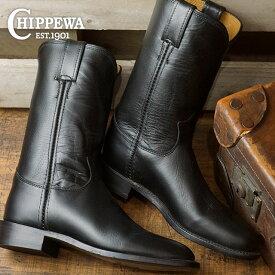 チペワ ウーマンズ 10インチ ローパーブーツ CHIPPEWA レディース 革靴 womens 10-inch roper boots Mワイズ ブラック (CP1901W67)【ts】【e】