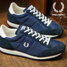 FRED PERRY フレッドペリー 日本製 スニーカー 靴 レディース VINSON NYLON ヴィンソン ナイロン NAVY (F29614-01)【ts】【e】