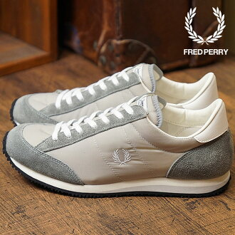 Sneakers shoes Lady's VINSON NYLON Vinson nylon GREY (F29614-30 FW17) made in FRED PERRY Fred Perry Japan