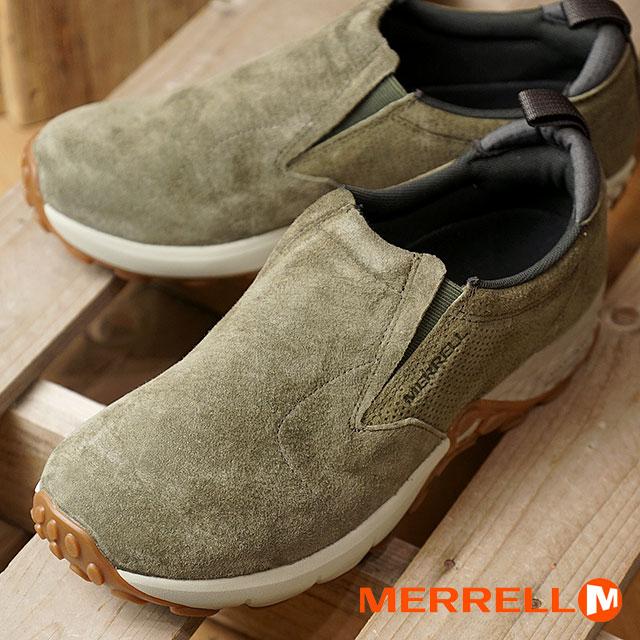 【在庫限り】MERRELL メレル メンズ MENS JUNGLE MOC AC+ ジャングルモック エアークッションプラス DUSTY OLIVE 靴 (91705 FW17)【e】【ts】