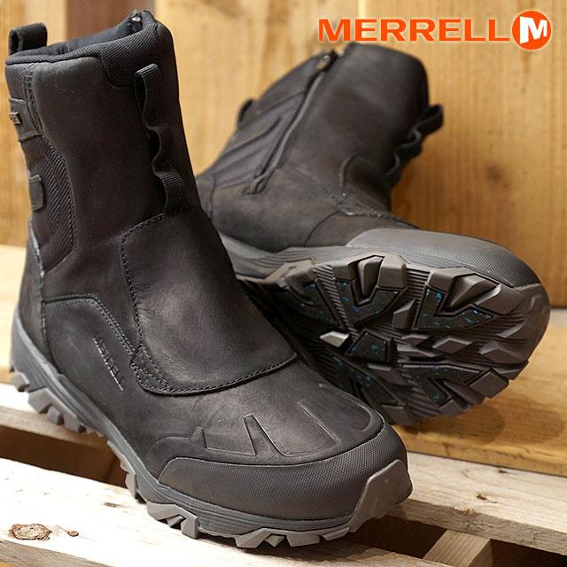 MERRELL メレル メンズ MENS COLDPACK ICE+ 8 ZIP POLAR WATERPROOF コールドパック アイスプラス8 ジップ ポーラー ウォータープルーフ BLACK (92025 FW17)【コンビニ受取対応商品】