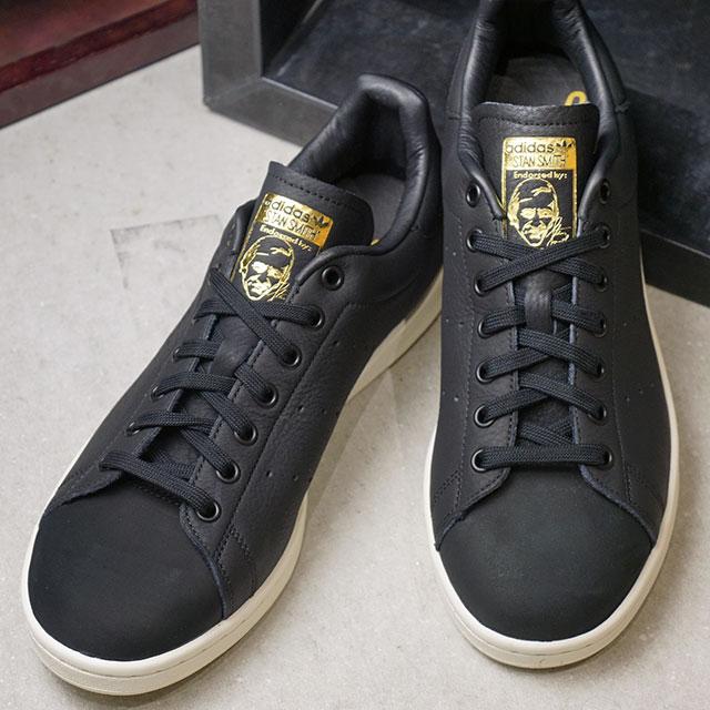 【即納】adidas Originals アディダス オリジナルス Stan Smith Premium スタンスミス プレミアム メンズ スニーカー 靴 Cブラック/Cブラック/ゴールドメット (B37901 FW18)【コンビニ受取対応商品】