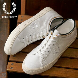 FRED PERRY フレッドペリーケンドリックティップドカフキャンバス KENDRICK TIPPED CUFF CANVAS sneakers shoes men WHITE (B4208-200 FW18)