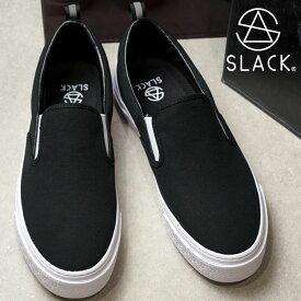 【11/22 14時まで!ポイント10倍】スラック SLACK カーマー ES スリップオン CALMER ES SLIP-ON スニーカー 靴 スリッポン メンズ・レディース BLACK/WHITE (SL1492-001 FW18)【コンビニ受取対応商品】