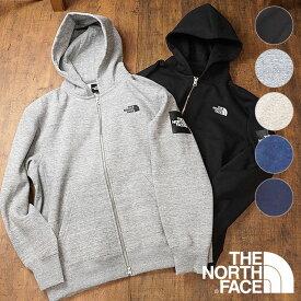 ザ・ノースフェイス THE NORTHFACE メンズ スクエアロゴフルジップ Square Logo FullZip 裏起毛 ジップアップ スウェットパーカー (NT61836 FW19)