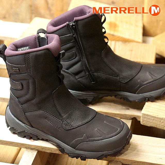 メレル MERRELL レディース コールドパック アイスプラス8 ジップ ポーラー ウォータープルーフ W COLDPACK ICE+ 8 ZIP POLAR WATERPROOF ウィンターブーツ 靴BLACK (02426 FW18)【コンビニ受取対応商品】
