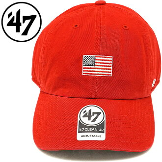 Forty seven brand '47 Brand cap Base Runner '47 CLEAN UP USA flag base  runner '47 cleaning up red men gap Dis hat RED (BSRNR198GWS)