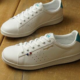 【即納】ルコック le coq sportif LA ローラン SL LA ROLAND SL レディース スニーカー 靴 ホワイト/ターコイズ (QL1NJC08WT-160 SS19)