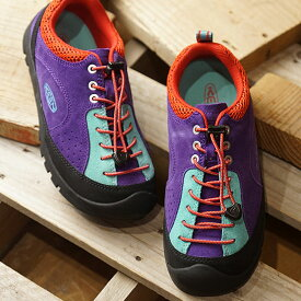 """【即納】キーン KEEN レディース ジャスパー ロックス エスピー WOMEN JASPER """"ROCKS"""" SP アウトドア スニーカー 靴 Grape Royal/Jefferson (1020713 SS19)"""