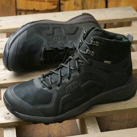 【即納】キーン KEEN メンズ エクスプロアー ミッド ウォータープルーフ M EXPLORE MID WP アウトドア 防水 トレッキングシューズ ハイキングブーツ スニーカー 靴 Black/Magnet ブラック系 (1021602 SS19)