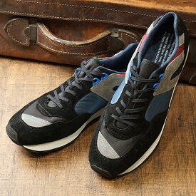 リプロダクション オブ ファウンド REPRODUCTION OF FOUND メンズ フレンチ トレーナー FRENCH MILITARY TRAINER ミリタリー スロバキア製 スニーカー 靴 BLACK ブラック系 (1300FS FW19)