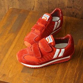 パトリック PATRICK キッズ スニーカー マラソン・ベルクロ MARATHON-V インファント 子供 日本製 靴 おでかけ UME レッド系 (EN7197 FW19)