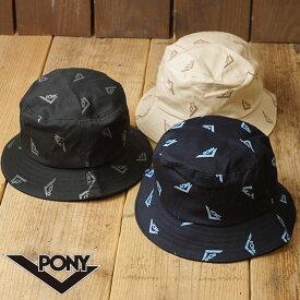 【12/18 14時まで!ポイント10倍】ポニー PONY 総柄バケットハット メンズ・レディース フリーサイズ ロゴ 帽子 (PN-PM001 FW19)【メール便可】