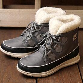 ソレル SOREL スノーブーツ ソレルエクスプローラーカーニバル W SOREL EXPLORER CARNIVAL (NL3040-052 FW20) レディース 防水ナイロン ウィンターブーツ 靴 QUARRY グレー系