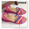 CROCS Crocs Womens huarache mini wedge w Wallace mini wedge women VIBRANT VIOLET/MELON (14384 – 5H7 SS15)