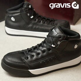 【サイズ交換片道送料無料】gravis グラビス メンズ レディース Tarmac HC DLX ターマック ハイカット デラックス BLACK/WHITE 靴 (1010)