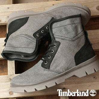 Timberland timbarandomenzubutsu City Blazer Fabric and Leather Boot城運動衣纖維和皮革長筒靴Dark Grey Canvas/Full-Grain(A1GFV SS17)