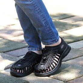 【9/19 14時までポイント10倍】KEEN キーン ユニーク スニーカー 靴 サンダル 靴 レディース W UNEEK O2 ユニーク オーツー BLACK/BLACK (1018723 SS18)
