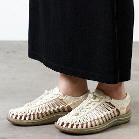【サイズ交換片道送料無料】KEEN キーン ユニーク サンダル 靴 レディース W UNEEK ユニーク Whitecap/Cornstalk (1018698 SS18)