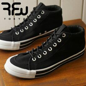 【即納】RFW アールエフダブリュー リズムフットウェア メンズ・レディース スニーカー 靴 BAGEL-MID STANDARD ベーグル ミッド スタンダード Black ブラック (R-1812031 SS18)【コンビニ受取対応商品】