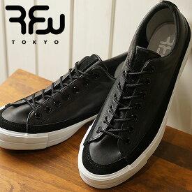 【即納】RFW アールエフダブリュー リズムフットウェア メンズ・レディース スニーカー 靴 BAGEL-LO LEATHER ベーグル ロー レザー Black ブラック (R-1812252 SS18)【コンビニ受取対応商品】