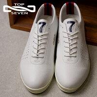 【即納】TOPSEVENトップセブンTS-260レザースニーカーWHTメンズ・レディース靴シューズ(SS18)【コンビニ受取対応商品】