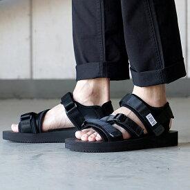 【サイズ交換片道送料無料】スイコック SUICOKE ストラップ スポーツサンダル ビブラム KISEE-V 靴 メンズ・レディース BLACK (OG-044V)